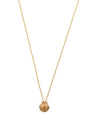 Saint Laurent shell-pendant Necklace - Farfetch