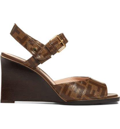 Fendi Wedge Sandal (Women) | Nordstrom