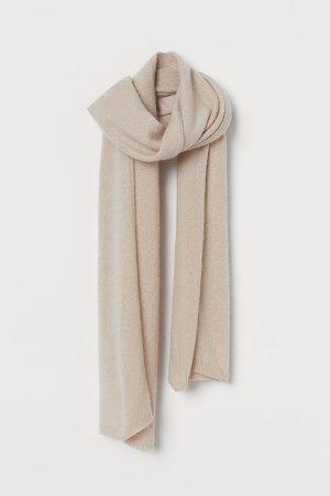 Wool Scarf - Brown