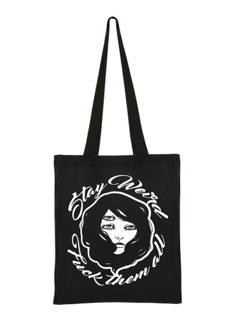 3eyes clothing tote bag Stay weird
