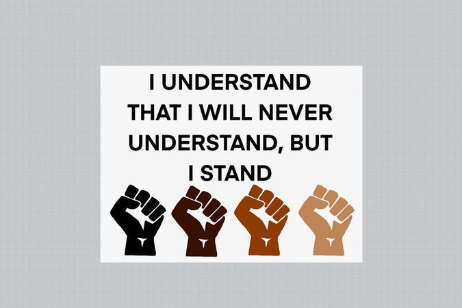 Protesting I Stand BLM Digital Download Print at Home and | Etsy