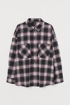 Cotton Flannel Shirt - Pink
