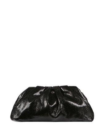 Black Giuseppe Zanotti Tomato python-print clutch IB00005001 - Farfetch