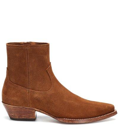 Suede Ankle Boots - Saint Laurent | mytheresa.com