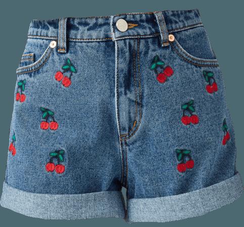 denim cherry shorts !!