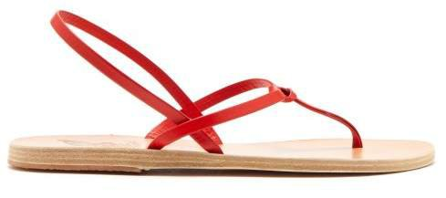 Dorothea Leather Sandals - Womens - Red
