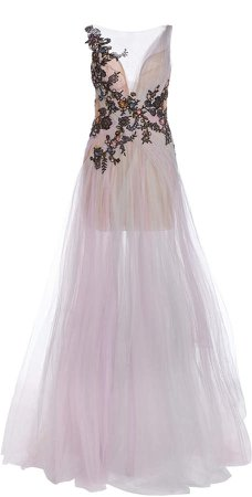 Marchesa Embellished Organza Gown