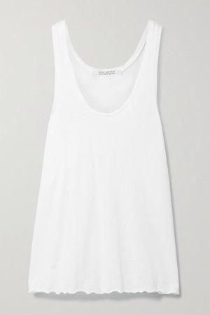 Lexi Cotton-jersey Tank - White