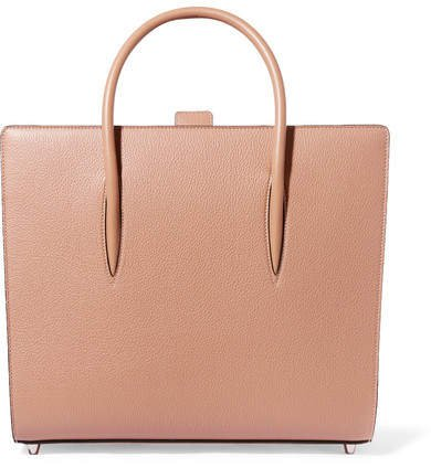 Paloma Large Spiked Leather Tote - Beige