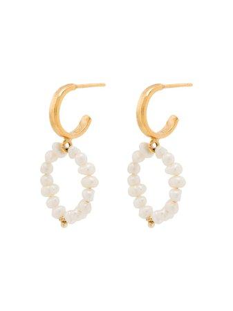 Hermina Athens Mini Hoop Pearl Earrings - Farfetch