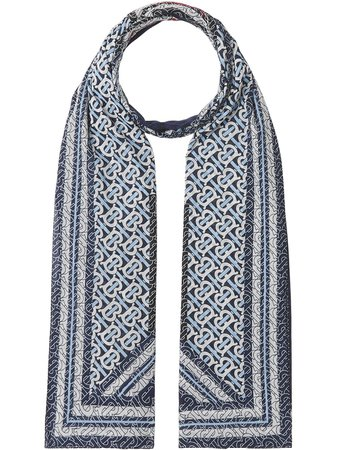 Burberry monogram stripe-print scarf - FARFETCH