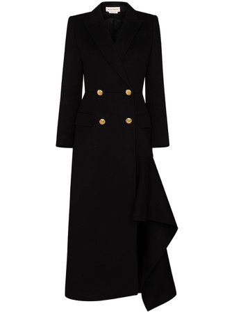 Alexander McQueen double-breasted Asymmetric Coat - Farfetch