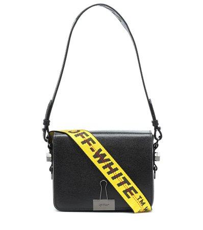 Binder Clip Leather Shoulder Bag - Off-White   mytheresa.com