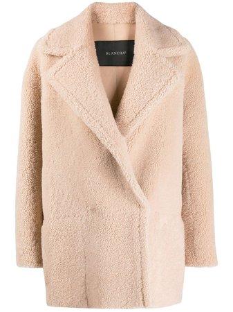 Blancha Single Breasted Shearling Coat - Farfetch