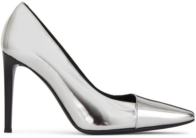 Silver Metallic Pumps