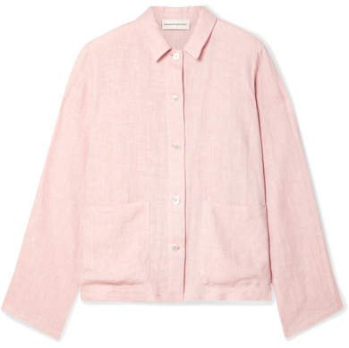 Worker Linen Shirt - Blush