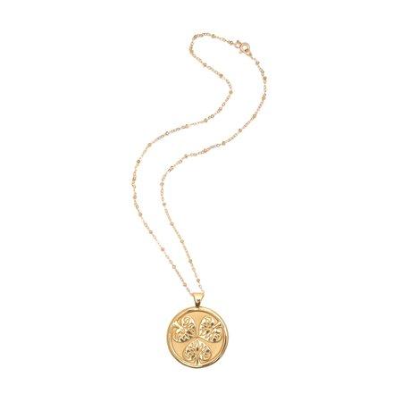 Jane Win JOY Coin Pendant Necklace   Goop