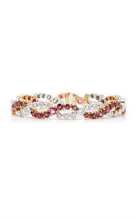 Oscar Heyman Ruby & Diamond Bracelet By Tiina Smith Vintage | Moda Operandi