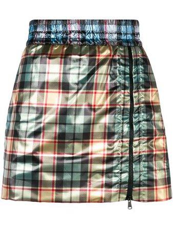 Nº21 Shiny mini skirt with zip