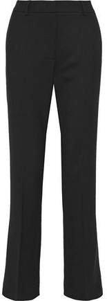 Pleated Twill Straight-leg Pants