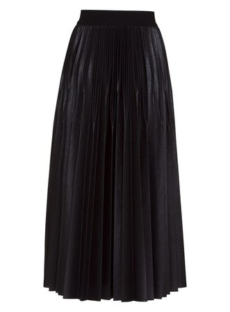 Givenchy Givenchy Pleated Skirt In Resined Jersey In Black