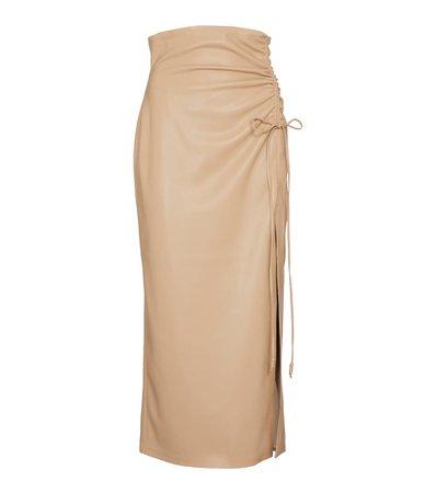 Nanushka - Malorie faux leather midi skirt | Mytheresa