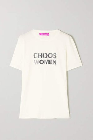 International Womens Day Printed Organic Cotton-jersey T-shirt - White