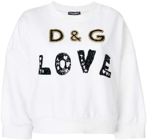 Love metallic embellished sweatshirt