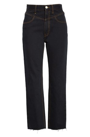 TRAVE Heidi Ankle Straight Leg Jeans (Moody Blue)   Nordstrom