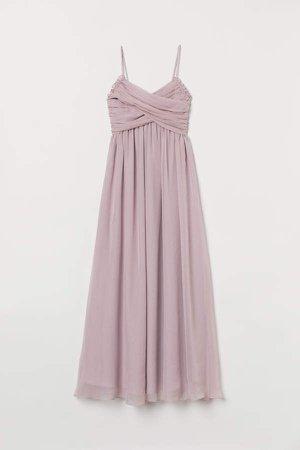 Draped Long Dress - Pink