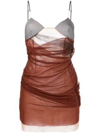 Nensi Dojaka two-tone Draped Mini Dress - Farfetch