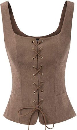 Amazon.com: SCARLET DARKNESS Womens Victorian Steampunk Waistcoat Gothic Vest Tops Black L: Clothing
