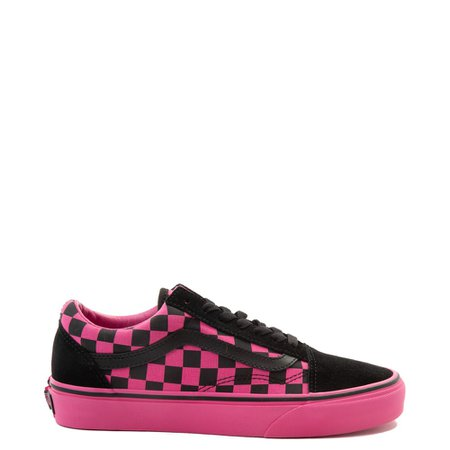 Vans Old Skool Checkerboard Skate Shoe - Pink / Black | Journeys