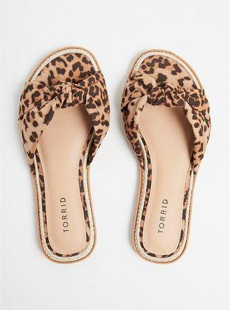 Leopard Knot Espadrille Sandal (WW) - Plus Size | Torrid