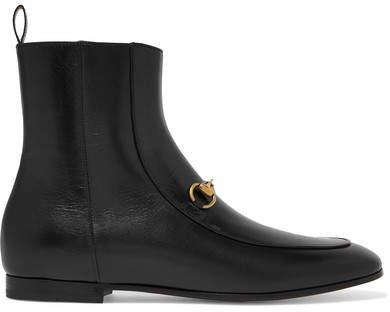 Jordaan Horsebit-detailed Leather Ankle Boots - Black