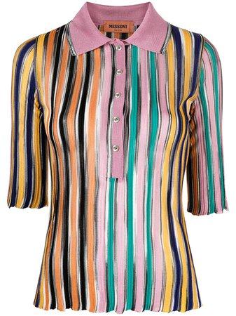 Missoni, stripe-print knitted polo shirt