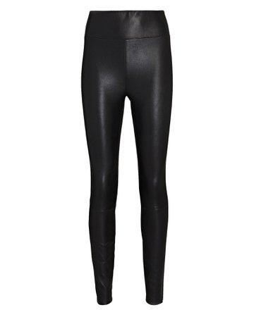 SPRWMN High-Waist Leather Ankle Leggings   INTERMIX®