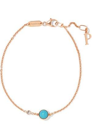 Piaget | Possession 18-karat rose gold, turquoise and diamond bracelet | NET-A-PORTER.COM