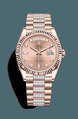 Relógio Rolex Day-Date 36: Ouro Everose 18 quilates – M128235-0019