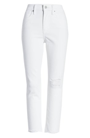 Levi's® 724™ Ripped High Waist Raw Edge Crop Jeans (Won Me Over) | Nordstrom