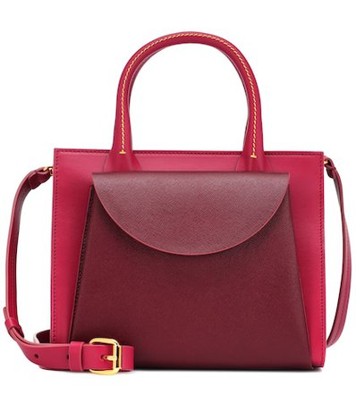 Law leather tote