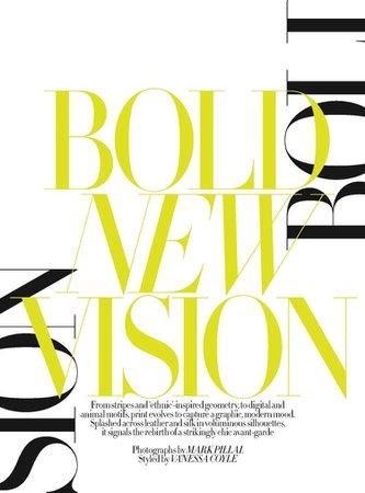 Bold New Vision ••