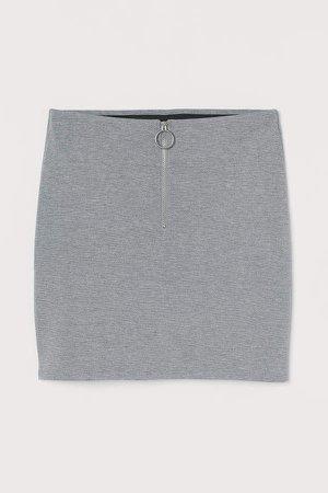 Skirt with Zip - Gray