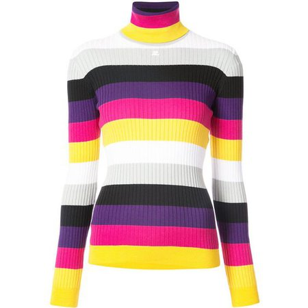 Courrèges Striped Knit Jumper in WHITE at Modalist  ($281)