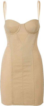 Cotton Gabardine Corset Dress