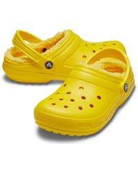Furry Crocs   Yellow