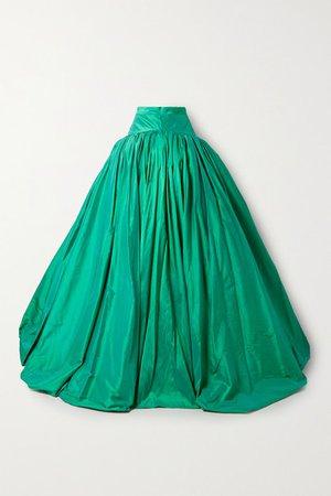 Silk-taffeta Maxi Skirt - Jade