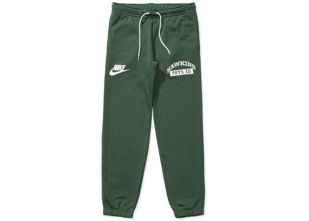Nike x Stranger Things Hawkins High Sweatpant Green - SS19