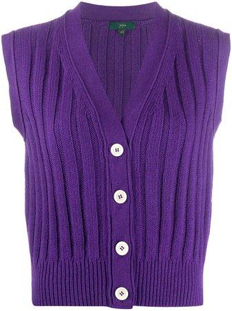 Jejia Sleeveless rib-knit Cardigan - Farfetch
