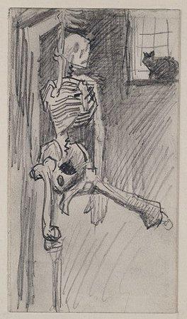 File:Van Gogh, Hanging Skeleton and Cat.jpg - Wikipedia